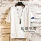 棉麻上衣 夏季帥氣棉麻短袖t恤男加大碼亞麻5五分袖學生韓版寬鬆上衣潮