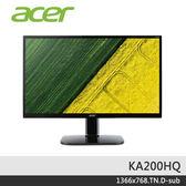 【免運費】Acer 宏碁 KA200HQ 20型 19.5吋 護眼 顯示器 / D-SUB / 三年保