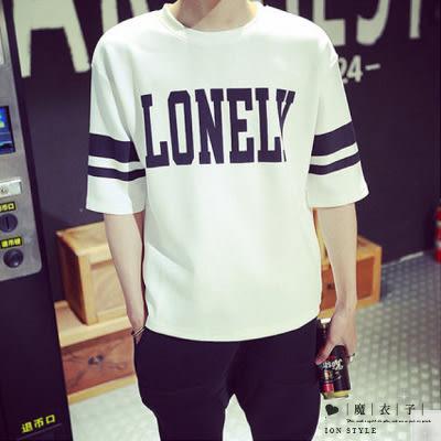 【QY050】魔衣子-夏季韓版英文字母圓領短袖T恤