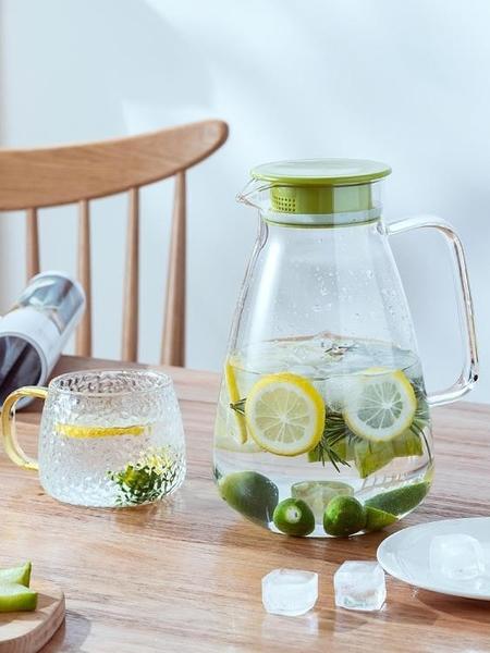 玻璃冷水壺家用水壺防爆茶壺套裝大容量涼白開水杯耐熱高溫涼水壺 滿天星