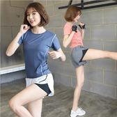 健身服女夏季瑜伽服2019新款速干瑜伽運動套裝女健身房跑步運動服 芭蕾朵朵