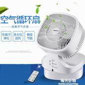 空氣循環扇電風扇循環扇渦輪家用負離子空氣對流扇臺式扇遙控靜音 NMS陽光好物