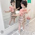 jk薄款女童夏裝套裝12歲兒童兩件套夏季中大童套裝裙夏學院風洋氣 蘿莉新品