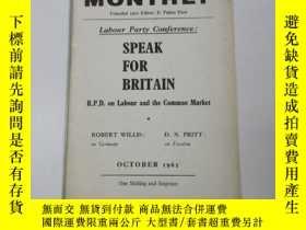 二手書博民逛書店1962年外文原版罕見.勞工月刊(labour monthly)