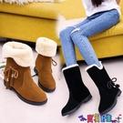 雪地靴 2021冬季新款韓版雪地靴女鞋短筒加絨保暖平底平跟學生靴子女棉鞋寶貝計畫 上新