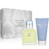D&G Light Blue 淺藍男性淡香水禮盒(淡香水75ml+鬍後乳75ml)【ZZshopping購物網】