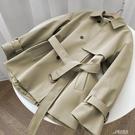 風衣女 短款風衣女小個子2020新款韓版英倫風卡其色秋季風衣外套女寬鬆 雙十一