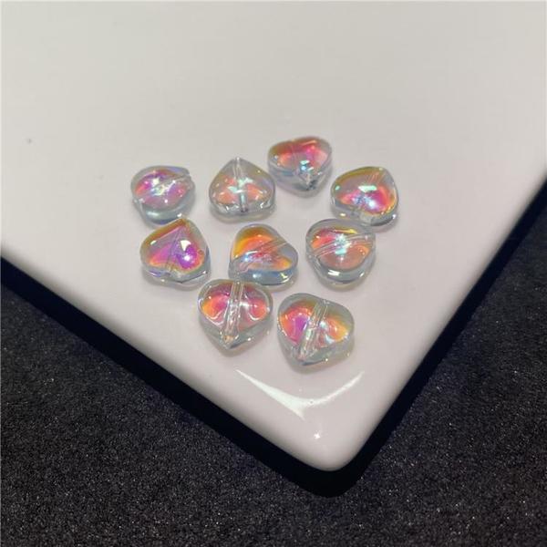 100顆捷克琉璃珠小桃心8mm愛心散珠串珠手鏈項鏈材料diy飾品配件【免運】