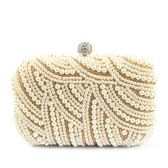 晚宴包珍珠手拿女士迷你小包包串珠宴會包禮服包鏈條包袋gogo購