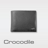 Crocodile 自然摔紋軟皮中翻短夾 0103-695301