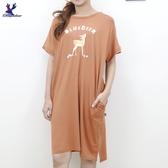 【秋冬新品】American Bluedeer - 印花彈性洋裝 二色
