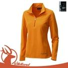 【Wildland 荒野 女 彈性銀離子保暖上衣《亮橘》】0A12601/抗菌防臭/持久耐洗/保暖衣/透氣