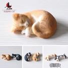 睡姿貓仿真小貓模型寵物貓咪樹脂擺件可愛車載飾品禮物【全館免運】