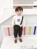 棉小班男童秋裝韓版新款潮寶寶長袖字母衛衣兒童洋氣加厚圓領上衣  嬌糖小屋