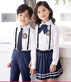 兒童合唱服演出服英倫風背帶褲小學生大合唱團中學生合唱服裝六一 童趣屋