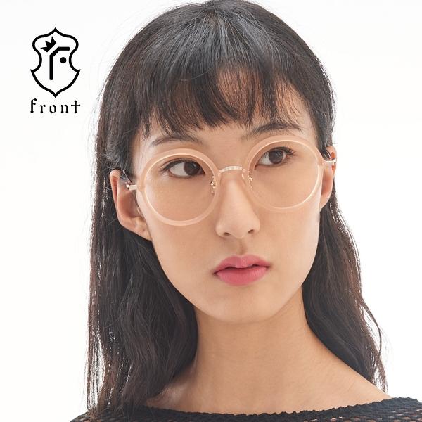 【Front光學眼鏡】V3802-三色可挑選(#時尚復古圓框光學眼鏡)