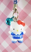 ~震撼  ~Hello Kitty 凱蒂貓限定版手機吊飾世足球
