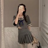 JK制服短裙套裝女春秋開學季學生洋氣減齡學院風胡桃木潮 當當衣閣