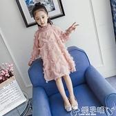 女童洋裝 女童連身裙2021秋冬裝新款童裝韓版公主裙兒童小女孩長袖加絨裙子 嬡孕哺 新品