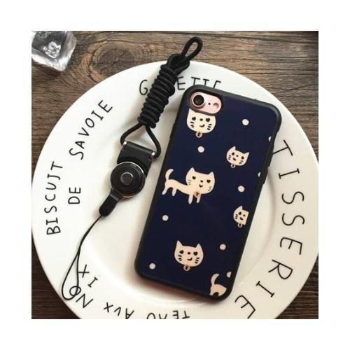 [24hr 火速出貨] 情侶 貓咪 手機殼 軟殼 全包 防摔 可愛 潮 蘋果 iPhone 7/8 plus i7 蝴蝶結【無附掛繩】