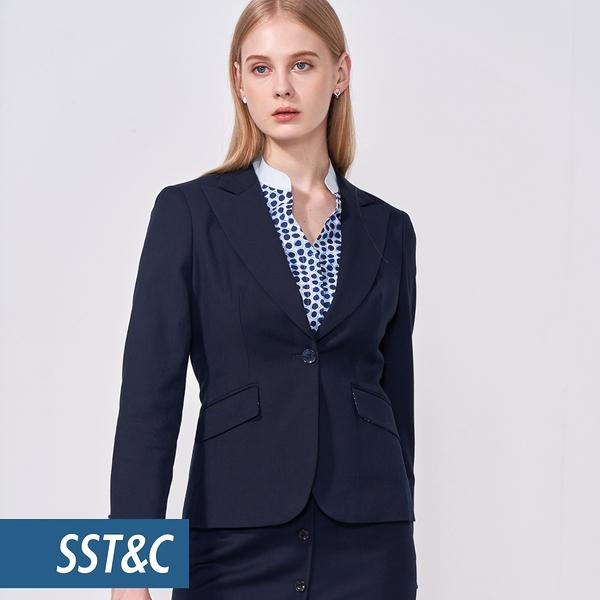 SST&C 女裝 深藍劍領單排釦西裝   7162010004