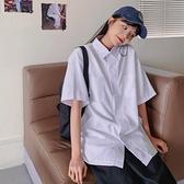 2021年春夏新款襯衫女日繫學生學院風寬鬆百搭短袖白色襯衣jk班服 童趣屋  新品