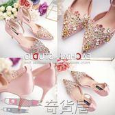 新娘婚鞋韓版細跟水鉆高跟鞋