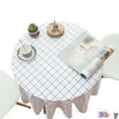 【Bbay】防油桌布 圓桌桌布 防水 防燙 防油 免洗 圓形臺布 茶幾餐 桌布