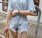超顯瘦 破洞毛邊 水洗牛仔褲CC KOREA ~ Q16407