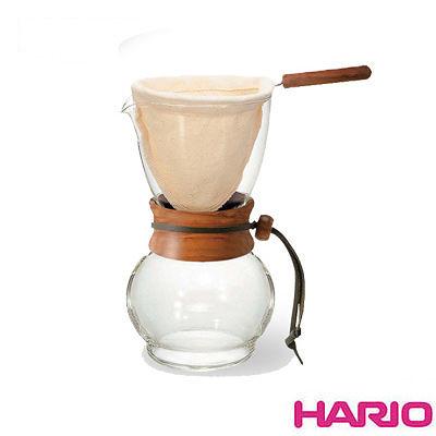 《HARIO》濾布橄欖木手沖咖啡壺 DPW-1-OV 240ml 1~2杯