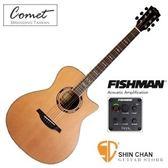 Comet C-480E 紅杉木單板 / Fishman拾音器EQ 可插電木吉他 / 民謠吉他 / 木吉他【附贈多樣配件】