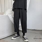 帥氣加厚工裝褲女寬鬆bf顯瘦高腰直筒嘻哈褲子【時尚大衣櫥】