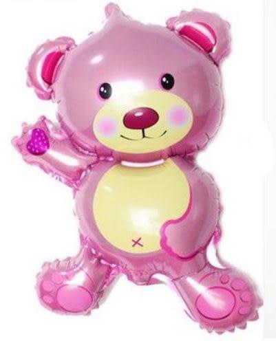 14吋小熊鋁箔氣球(未充氣)/粉紅色~~求婚道具/婚禮 生日 耶誕節 尾牙佈置