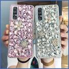 紅米 Note 9 Pro 小米 10 Realme X50 X7 Pro vivo X60 華碩 ZS670KS 寶石珍珠花 手機殼 水鑽殼 訂製