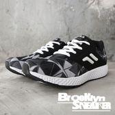 FILA 黑白 幾何圖形 慢跑鞋 運動鞋 男 (布魯克林) 1J303Q011