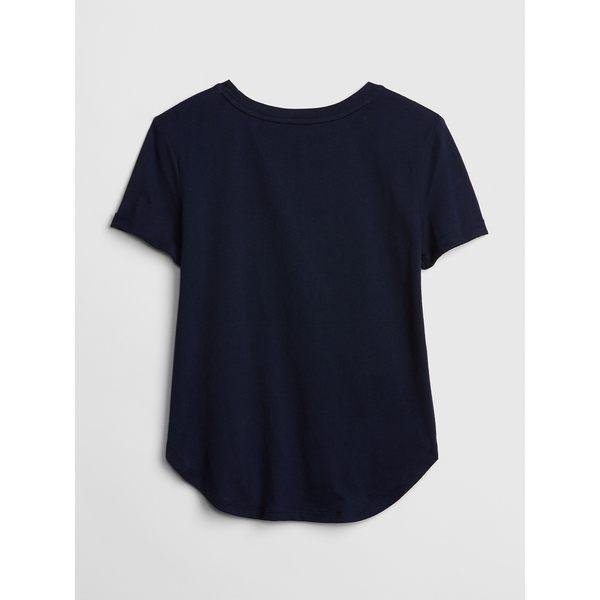 Gap女童 雙面亮片圖案短袖T恤 440969-海軍藍色
