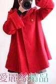 斗篷外套日系森女系學院風斗篷毛呢外套中長款呢子大衣韓版學生女潮秋冬季交換禮物