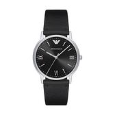 【Emporio Armani】美式經典羅馬時標簡約時尚腕錶-寂靜黑/AR11013/台灣總代理公司貨享兩年保固