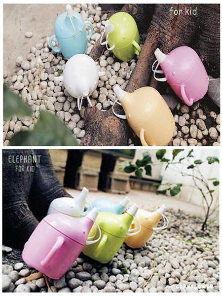 【Cornflower玉米花】快樂森林玉米餐具-小象學習杯-5入