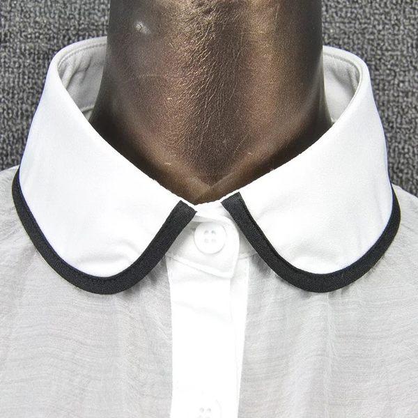 假領子領片 復古風披肩斗篷式領片 洋裝外套大學T針織衫毛衣內搭黑白色[E1273] 預購.朵曼堤洋行