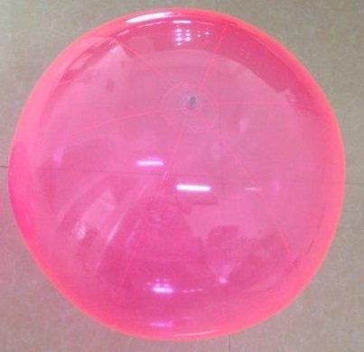 [衣林時尚] 全透明粉沙灘球 海灘球 (充氣後直徑約50cm) 現貨 辦活動專用 可大量訂購 非INTEX商品