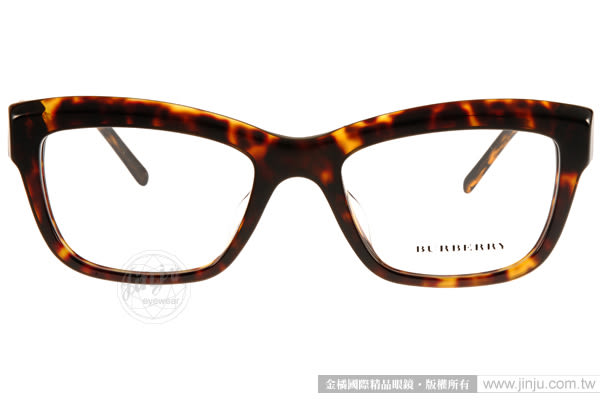 BURBERRY 眼鏡 BU2211F 3002 (琥珀) Gabardine系列典雅女款 # 金橘眼鏡