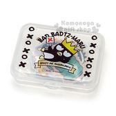 〔小禮堂〕酷企鵝 造型貼紙組附盒《黑.皇冠》裝飾貼.黏貼用品 4901610-07456