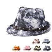 爵士帽-時尚潑墨復古英倫風流行男女禮帽6色71k96【巴黎精品】