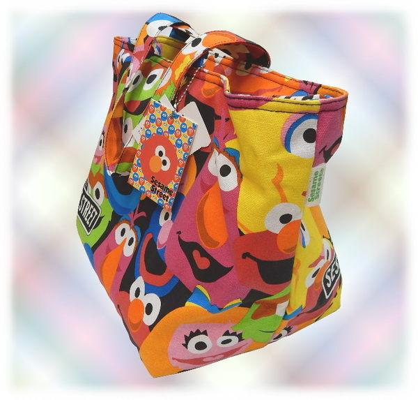 【波克貓哈日網】日系帆布手提包◇芝麻街圖案◇《SESAME STREET》