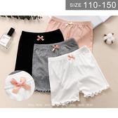 【大童】女童安全褲。ROUROU童裝。夏女童中大童莫代爾棉滾邊安全褲 0222-431