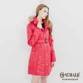 【ST.MALO】歐系蠟棉羊駝長大衣B-1457WJB-紅