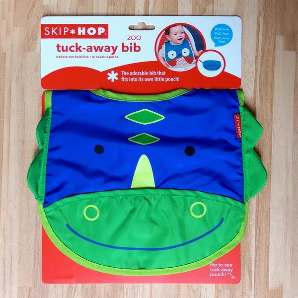美國SKIP HOP ZOO Bib動物寶寶圍兜 防水圍兜(恐龍)-超級BABY