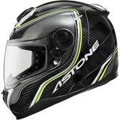 【東門城】ASTONE GT1000F AC2 螢光黃 碳纖維 內藏式墨片 EQRS設計 雙D扣 全罩式安全帽