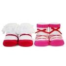 娃娃城 Baby City 芭蕾紅女童短襪2入禮盒BB3110006[衛立兒生活館]